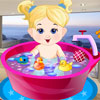 Baby Girl Bathing
